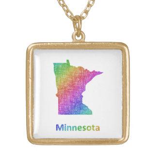 Le Minnesota Collier Plaqué Or