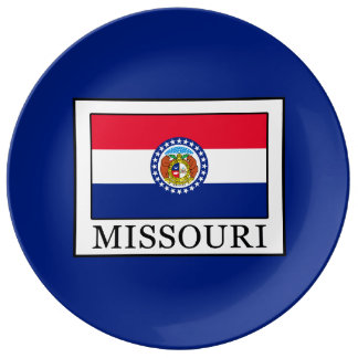 Le Missouri Assiette En Porcelaine