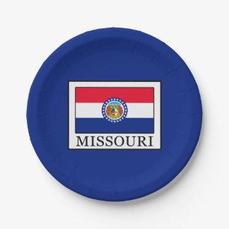Le Missouri Assiettes En Papier