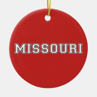 Le Missouri Ornement Rond En Céramique
