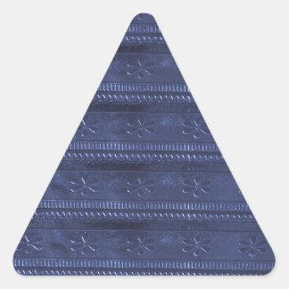 Le modèle bleu de la texture do-it-yourself de DON Sticker Triangulaire