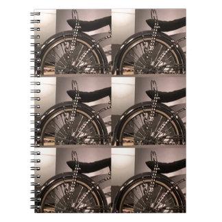 Le modèle graphique de deco d'art de bicyclette de carnet