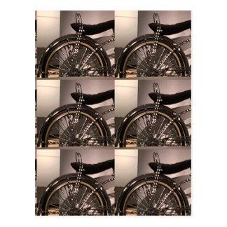 Le modèle graphique de deco d'art de bicyclette de carte postale