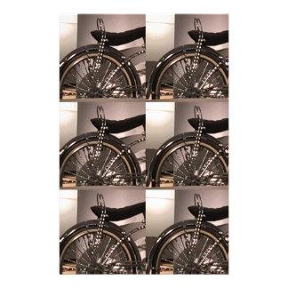 Le modèle graphique de deco d'art de bicyclette de papeterie