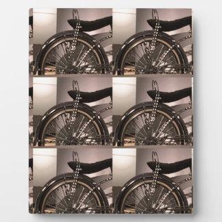 Le modèle graphique de deco d'art de bicyclette de plaque photo