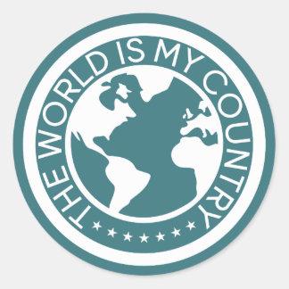 Le monde est mon autocollant de pays