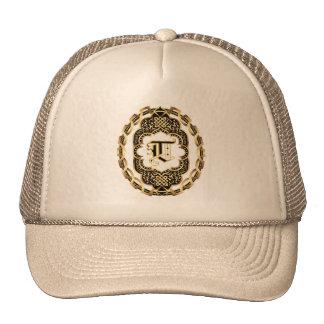 Le monogramme T obtiennent l'autre monogramme des Casquette Trucker