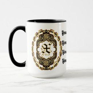 Le monogramme X adapte toute la personnaliser Mug