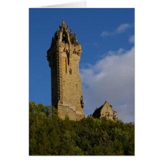 Le monument Stirling Ecosse de Wallace Carte