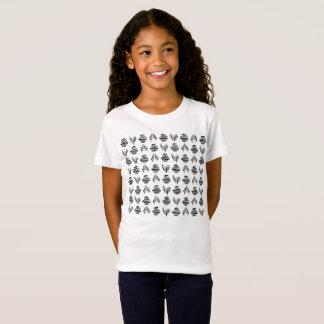 Le motif de coquillage badine le T-shirt
