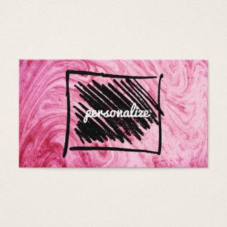 le motif de marbre rose de texture élégant cartes de visite