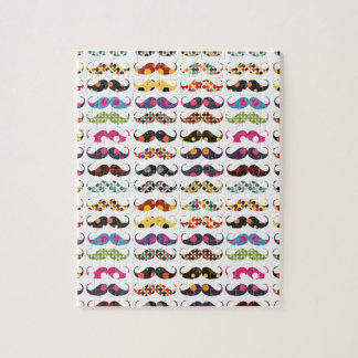 Le motif de moustache est mignon puzzle