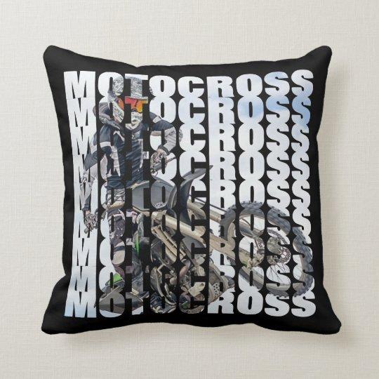 Le motocross folâtre la typographie de photo de oreillers