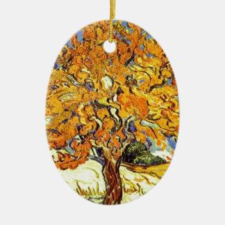 Le mûrier, Vincent van Gogh Ornement Ovale En Céramique