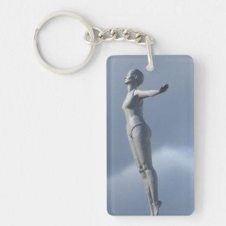 Le nageur, porte - clé porte-clés