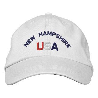 Le New Hampshire Etats-Unis a brodé le casquette