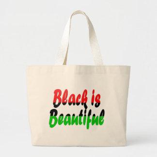Le noir est beau drapeau de partisan du panafrican sac en toile jumbo