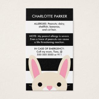 Le noir mignon de lapin barre la carte d'allergie