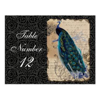 Le nombre antique de Tableau de réception de paon Carte Postale