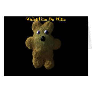 Le nounours, Valentine soit le mien, Valentin… - Carte De Vœux