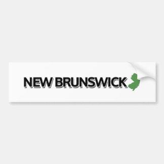 Le Nouveau Brunswick, New Jersey Autocollant De Voiture