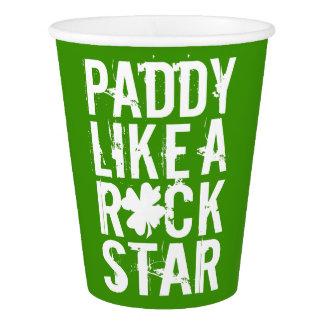 Le paddy aiment une roche STAR II Gobelets En Papier