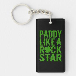 Le paddy aiment une roche STAR II Porte-clé Rectangulaire En Acrylique Double Face