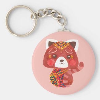Le panda rouge mignon porte-clés