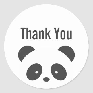 Le panda vous remercient des autocollants