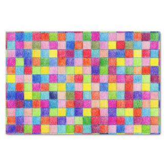 Le papier de graphique coloré coloré ajuste le papier mousseline