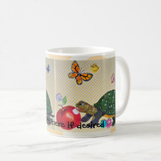 Le papillon gai de tasse de tortue, Apple,