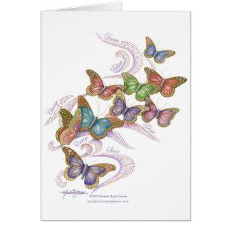 Le papillon rêve le carte pour notes vide