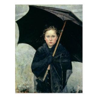 Le parapluie par la carte postale de Marie