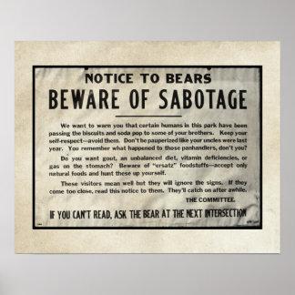 Le parc humoristique de mise en garde soutient le  poster