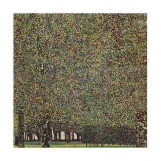Le parc par Gustav Klimt, art vintage Nouveau