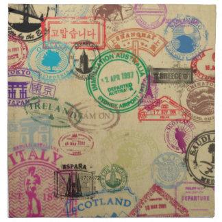 Le passeport vintage emboutit des serviettes de