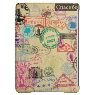 Le passeport vintage emboutit la caisse brillante