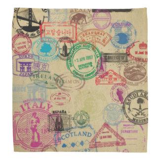 Le passeport vintage emboutit le Bandana