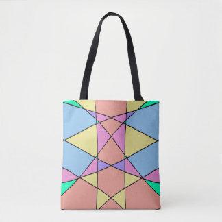 Le pastel géométrique forme l'illustration sac