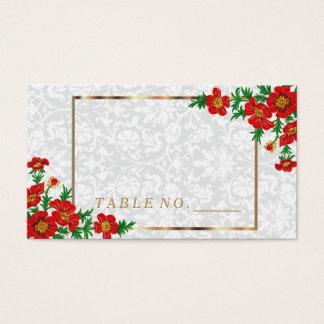 Le pavot rouge élégant fleurit des cartes