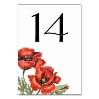 Le pavot rouge fleurit le mariage