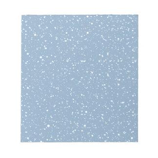 Le pays des merveilles chaud bleu d'hiver de Milou Blocs Notes
