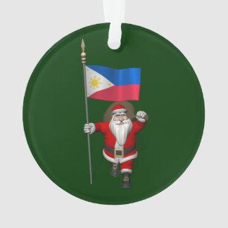 Le père noël avec le drapeau des Philippines