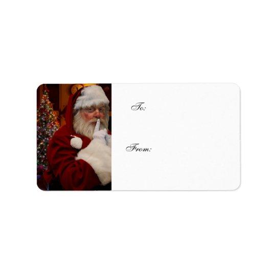 Le père noël - étiquette de cadeaux de Noël