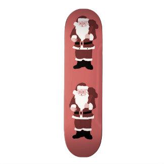Le père noël plateaux de skateboards customisés