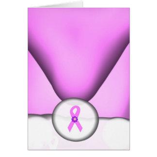Le père noël soutient la carte de cancer du sein