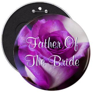 Le père pourpre de la jeune mariée s'est levé badge rond 15,2 cm