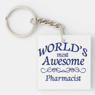Le pharmacien le plus impressionnant du monde porte-clé carré en acrylique une face