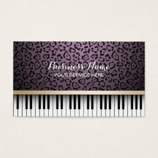 Le piano de musique verrouille le musical pourpre cartes de visite