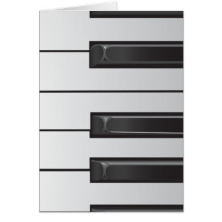 Le piano verrouille la carte de voeux